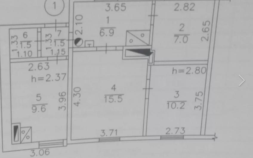 Продается 3х.комн.квартира на земле.Буденновский,ВАЗ 52,2 кв.м. Цена 6500 у.е.